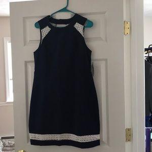 Lauren James Sloane navy dress
